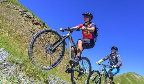 Mountain biking with Bike Academy