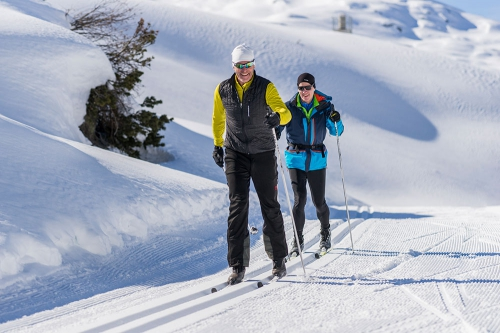 Cross-country skiing in Ischgl