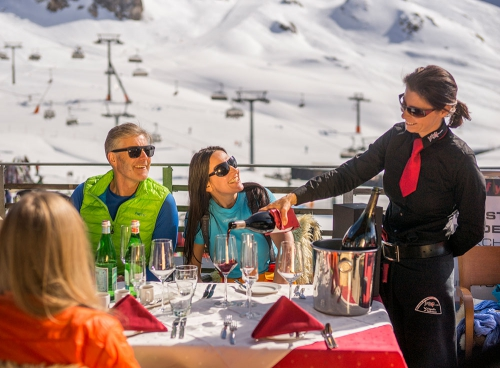 Cuisine in the mountains in Ischgl