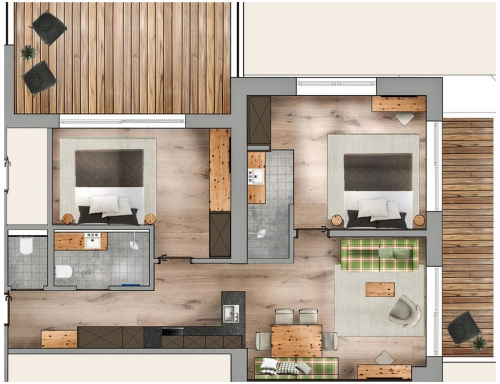 floor plan - Suite Salaas deluxe