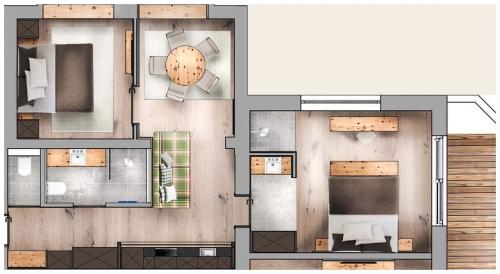 floor plan - Suite Larein deluxe